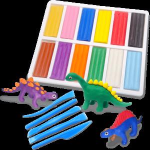 彩色油土恐龍組合