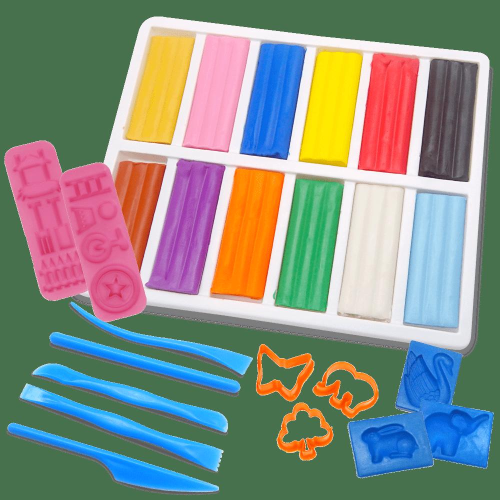 12色彩色油土模具組合
